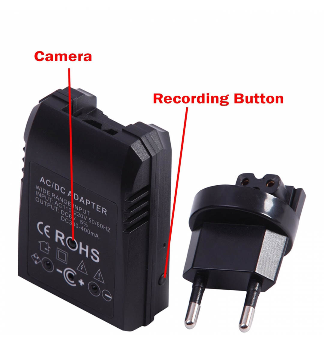 1080p Spy Adaptor Night Vision Camera With Remote ( With remote )