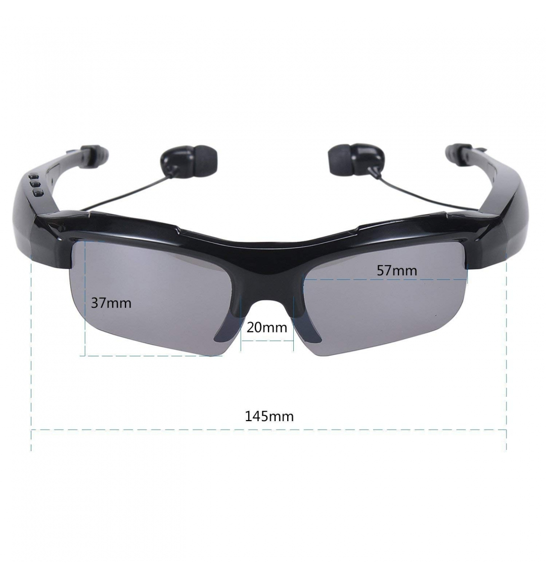 UniZoom Outdoor Glasses Bluetooth Sunglasses Headphones Stereo Wireless Sport Riding Song Call Ear Buds Earphone-Only