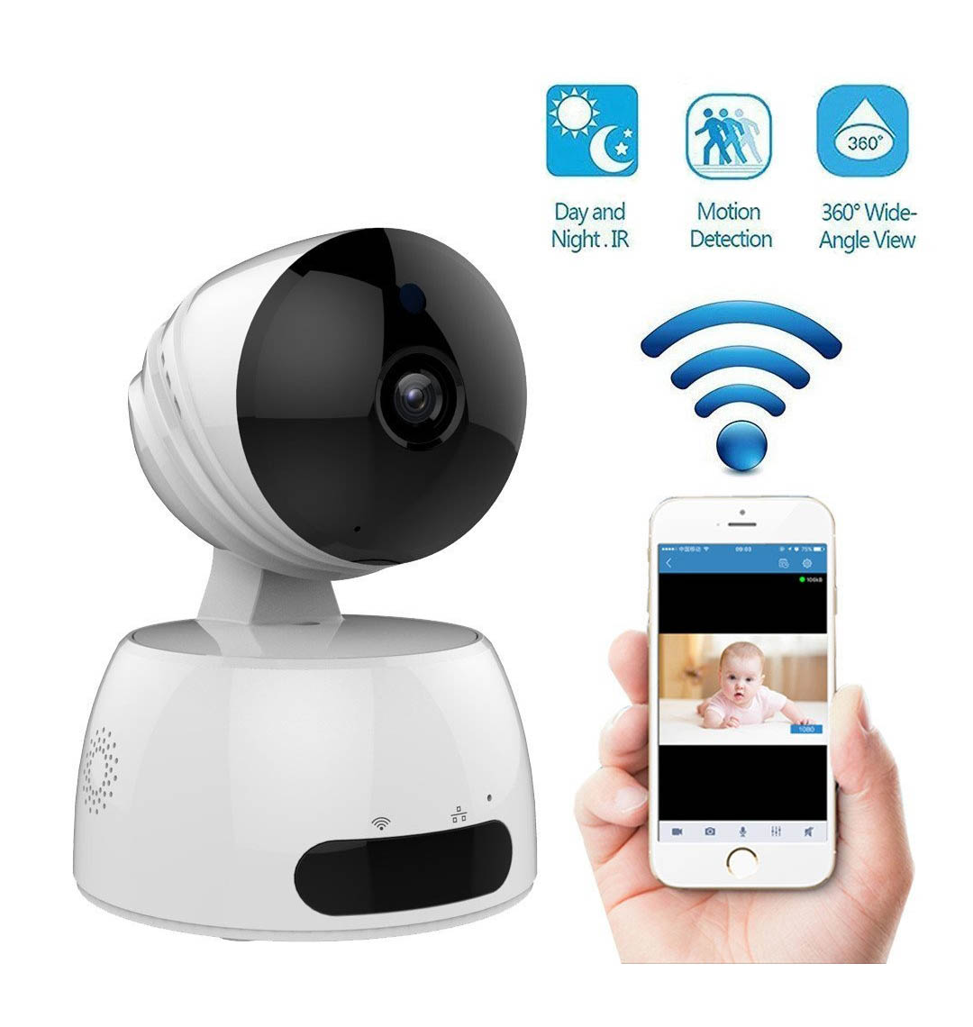 9caf34c1c WIRELESS WIFI HD IP CCTV INDOOR SECURITY CAMERA WITH SD CARD SLOT ...