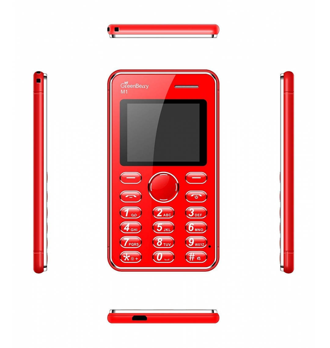GreenBerry's M1 Card Phone | Bluetooth Dialer | Size: Credit Card | Single SIM (GSM) | Colour: Red Golden
