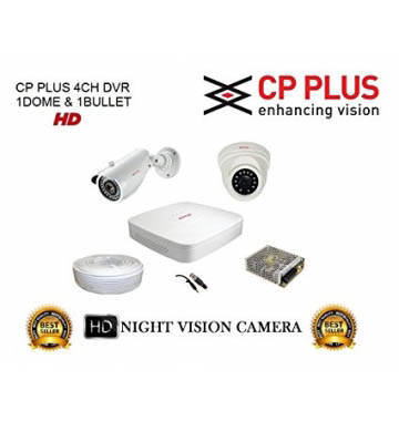 CP Plus 1MP 2 CCTV Camera with DVR Kit with All Accessories Dharamshala