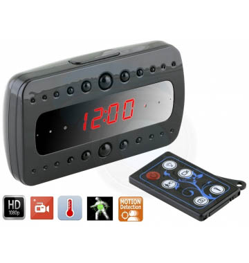 HD 1080P SPY Hidden Camera Clock IR Night Vision Motion Detecter
