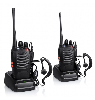 Walkie Talkie set Baofeng BF-888 16CH UHF 400-470 MHz Radio HF Transceiver