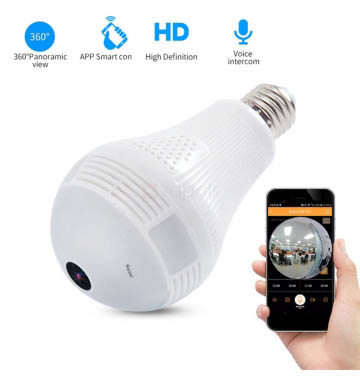 Spy Led Bulb Camera With Wifi Home Security Camera Support TF Card