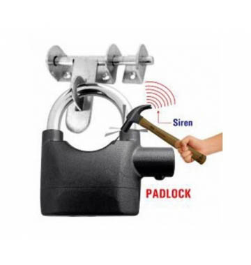 Anti Theft Burglar Pad Lock Alarm Security Siren Home Office Bike Bicycle Shop Black