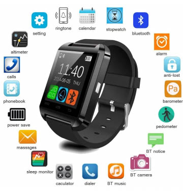 Smart Watch Wrist Watch Phone with Camera & SIM Card Support