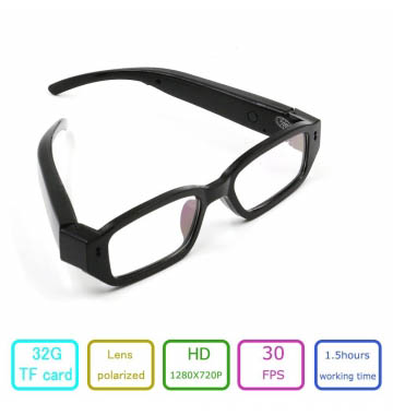 HD Spy Camera Glasses 720P Hidden Eyeglass Sunglasses Cam Eyewear DV DVR