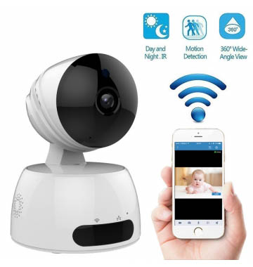 Wireless wifi HD IP CCTV indoor Security camera with sd card slot
