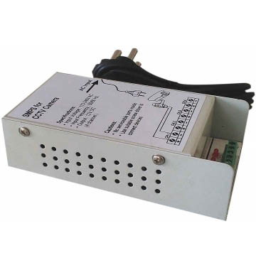 4 Channel SMPS for CCTV / Surveillance / Spy Camera, output 12 V DC, power supply