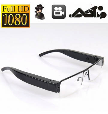 HD 1080P Glasses Hidden Camera Security DVR Video Recorder Eyewear Cam