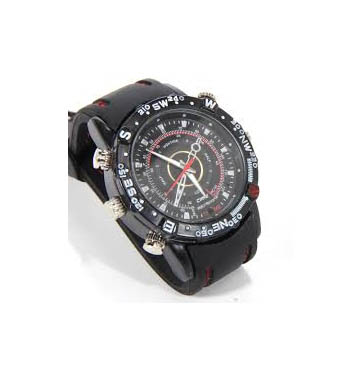 Spy Waterproof strap watch  4 GB inbuilt audio video recorder hd