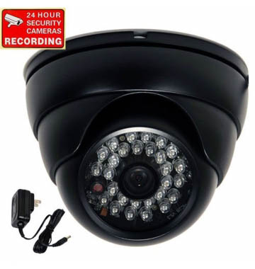 TV-Out Dome Night Vision CCTV Camera DVR with Memory Card Slot Recording