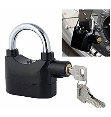Sensor Security Siren Alarm Lock Anti-Theft Security System Keyed Padlock, 110dB